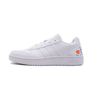 阿迪达斯 Neo女鞋2019春季新款印花小白鞋运动轻便休闲板鞋EE5823