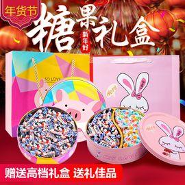 VMM 【年货糖果礼包】大白兔奶糖+牛轧糖+纸鹤糖礼盒装500g 多款可选 (JF)