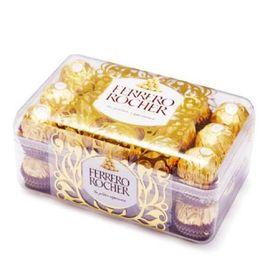 FERRERO ROCHER/费列罗 中粮 FERRERO ROCHER费列罗牛奶巧克力制品30粒375g新老包装随机发货