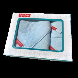 费雪 宝宝儿童全棉不褪色安全棉棉芯意套巾礼盒三条装