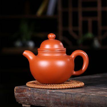 安居行 宜兴紫砂茶壶 家用紫砂壶 清水泥 掇球壶