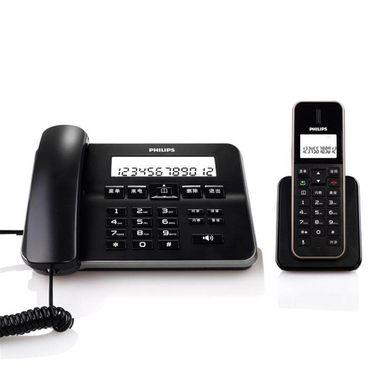 【易购】飞利浦(PHILIPS) DCTG192 无绳电话机 来电显示/子母机/家用座机/商务办公/老年电话机(黑色)