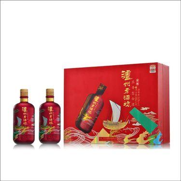 【易购】泸州老酒坊 耀顺 52° 礼盒装500ml*2 浓香型白酒
