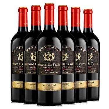 【易购】西班牙原瓶进口珍藏红酒整箱 TRAVIS珍藏干红葡萄酒750ml*6