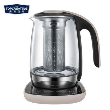 【易购】拓璞创造(TOPCREATING)养生壶DK347B 保温玻璃煮茶壶 1.7L 进口温控器 24小时智能预约煎药壶电水壶