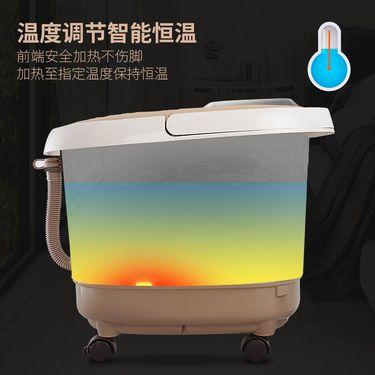 【易购】佳仁(JARE)足浴器 390_2升级双模式自动滚轮 3D仿真人按摩 无线遥控 智能养生足浴盆