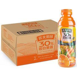 【易购】农夫山泉农夫果园30%混合果蔬汁500ml橙+胡萝卜+苹果+菠萝+猕猴桃+樱桃李普通装1*24瓶整箱