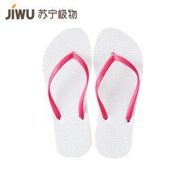 【苏宁极物】时尚防滑人字拖女士 35-36码 白红