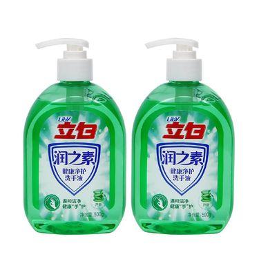 【易购】立白 润之素 健康净护 芦荟 洗手液 500g*2 两瓶组装(单位 : 组)