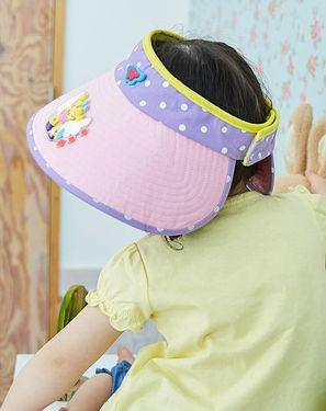 柠檬宝宝【唯品会】Lemonkid 夏季男童女童卡通超大帽檐遮阳空顶帽 儿童帽子