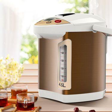电水壶/热水瓶 利仁家用电热水瓶烧水壶电水壶4.6L容量保温水瓶D4601