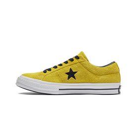 匡威 ONE STAR男鞋女鞋2019春季新款翻毛皮帆布鞋黄色帆布鞋163245