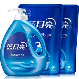 蓝月亮 【6斤超值手洗专用组合】手洗专用风清白兰香洗衣液1kg*1瓶+1kg*2袋套装