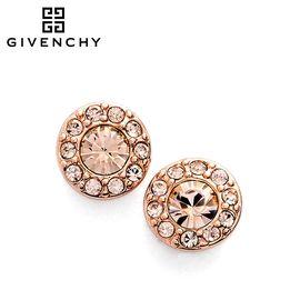 Givenchy/纪梵希 经典圆形 施华洛世奇人造水晶 女水晶女士耳钉