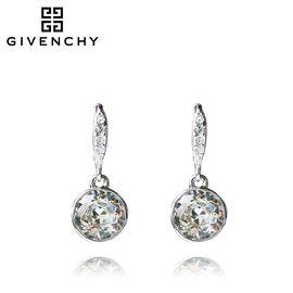 Givenchy/纪梵希 简约系列单颗圆形 施华洛世奇人造水晶女士耳坠 60451077