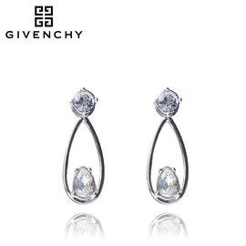 Givenchy/纪梵希 个性简约系列银色水滴锆石女士耳钉 60461130