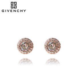 Givenchy/纪梵希 经典圆形仿水晶玫瑰金色女士耳夹 60461608