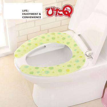LEC 日本LEC丽固 可水洗反复用粘贴式马桶垫座便套坐便器垫马桶贴圈