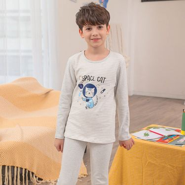 红豆 儿童保暖内衣套装秋衣秋裤中大童卡通 棉毛衫睡衣H8R7017