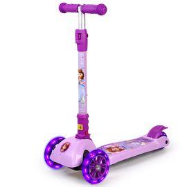 DISNEY 迪士尼儿童滑板车四轮闪光摇摆车可折叠升降脚踏车索菲亚DCA71106-Y