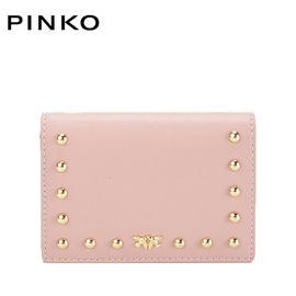 PINKO /品高  女士时尚手拿包 钱包 铆钉装饰燕子包 嫩粉色 洲际速买