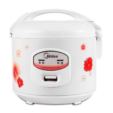 美的 (Midea)机械式 老人家用 电饭煲 5L大容量电饭锅  MB-YJ508J 白色