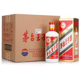 茅台 王子酒 53度 白酒 500ml*6瓶 整箱装 口感酱香型(新老包装随机发货)