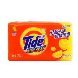 汰渍 全效360度洗衣皂(柠檬清香)238g*2 透明皂 肥皂