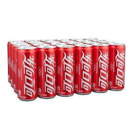 可口可乐 Coca-Cola 汽水 碳酸饮料 330ml*24罐 整箱装 可口可乐公司出品 摩登罐 新老包装随机发货