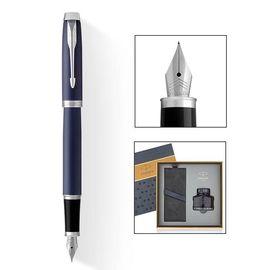 【易购】派克(PARKER)新品IM钢笔 墨水礼盒系列 新品IM蓝色白夹墨水笔+17款墨水礼盒