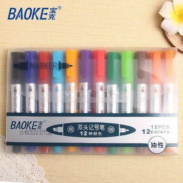 【易购】宝克(baoke) 12色 12支混装 记号笔 MP210(套)