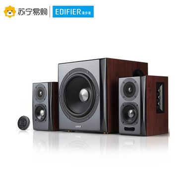 【易购】Edifier/漫步者 S201音响电脑台式低音炮无线蓝牙HIFI多媒体音箱 樱桃红色
