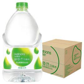 【易购】屈臣氏(Watsons)饮用水(蒸馏制法)4.5L *4桶 整箱