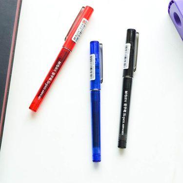 【易购】晨光直液式笔ARP41801 0.5mm针管笔直液式水笔素雅签字笔 黑色 48支装