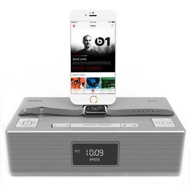 【易购】RSR DS420 苹果音响iPhone X/8/7/ipad充电底座手机播放器 银色