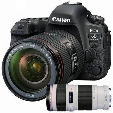 【易购】佳能(Canon) EOS 6D Mark II /6D2(EF 24-105II+EF 70-200F4L)双