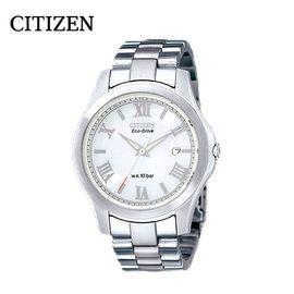 【易购】西铁城(CITIZEN)手表 光动能不锈钢带商务休闲时尚男表 BM6165-59B