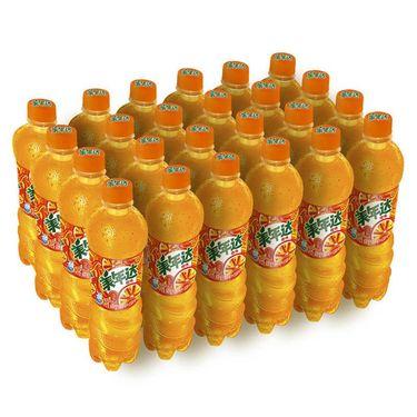 【易购】百事可乐 美年达橙味汽水600ml*24瓶(整箱)