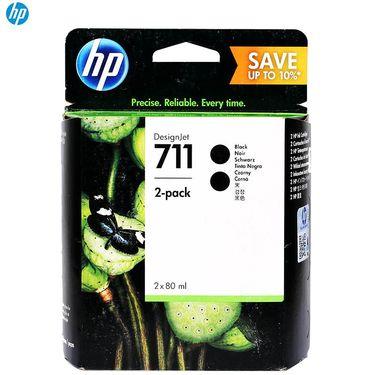 【易购】惠普(HP)P2V31A 711 黑色墨盒双包装(适用 HP T120 T520绘图仪) 黑色