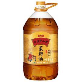 金龙鱼 食用油 非转基因 压榨 外婆乡小榨菜籽油 5L(新老包装随机发放)