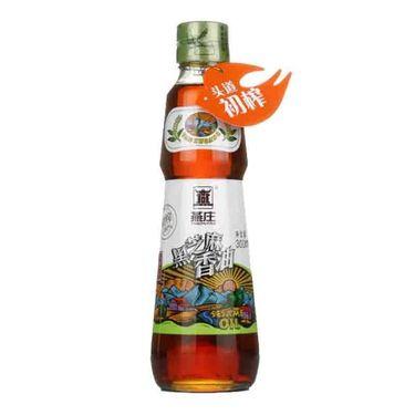 【易购】燕庄 头道初榨黑芝麻香油300ml