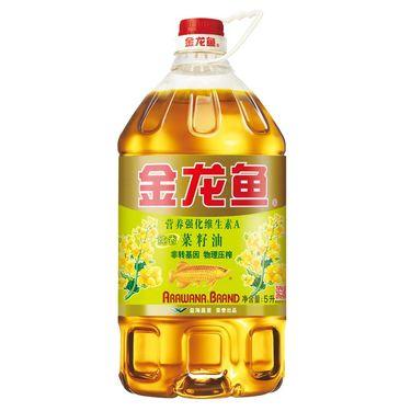 【易购】金龙鱼AE纯香菜籽油5L 非转基因(新老包装随机发货)