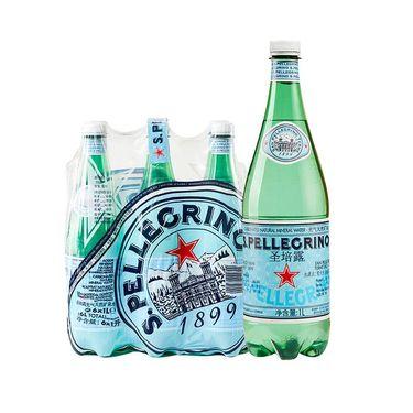 【易购】意大利圣培露 充气天然矿泉水1升*6瓶整箱