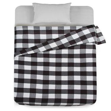 【易购】三利 棉布复古彩格毛巾被 菱格缝线空调毯子 居家办公午休四季通用盖毯 150×200cm 涅色