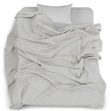 【易购】三利 棉布韩版条纹毛巾被 菱格缝线空调毯子 居家办公午休四季通用盖毯 150×200cm 生成色