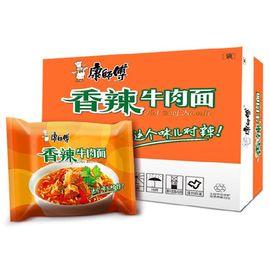 康师傅 方便面(KSF) 经典系列 香辣牛肉 泡面 24袋整箱装