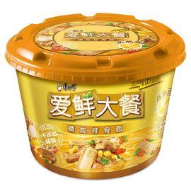 康师傅 方便面(KSF)爱鲜大餐 精炖排骨面 泡面碗装