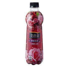 【易购】可口可乐美汁源 爽粒花语 玫瑰风味葡萄汁饮料 420ml*12瓶