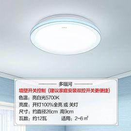 【易购】欧普照明 多瑙河 【MX260】LED阳台灯亮白光直径26cm3-8㎡