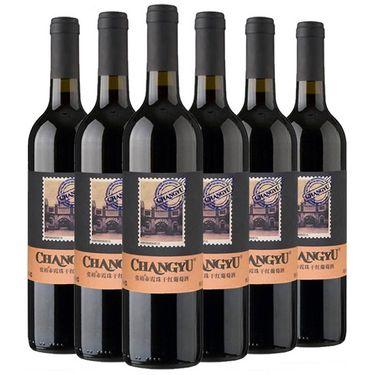 【易购】张裕(CHANGYU) 赤霞珠(邮票版)干红葡萄酒750ml*6 整箱